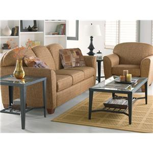 Decor-Rest 2317 Love Seat w/ Square Wood Legs