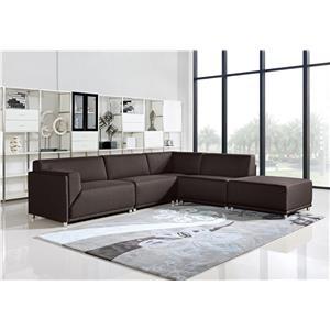Diamond Sofa Moderna Contemporary Square Ottoman