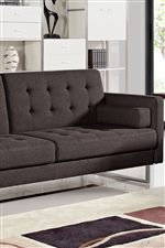 Tufted Sofa Converts into Bed