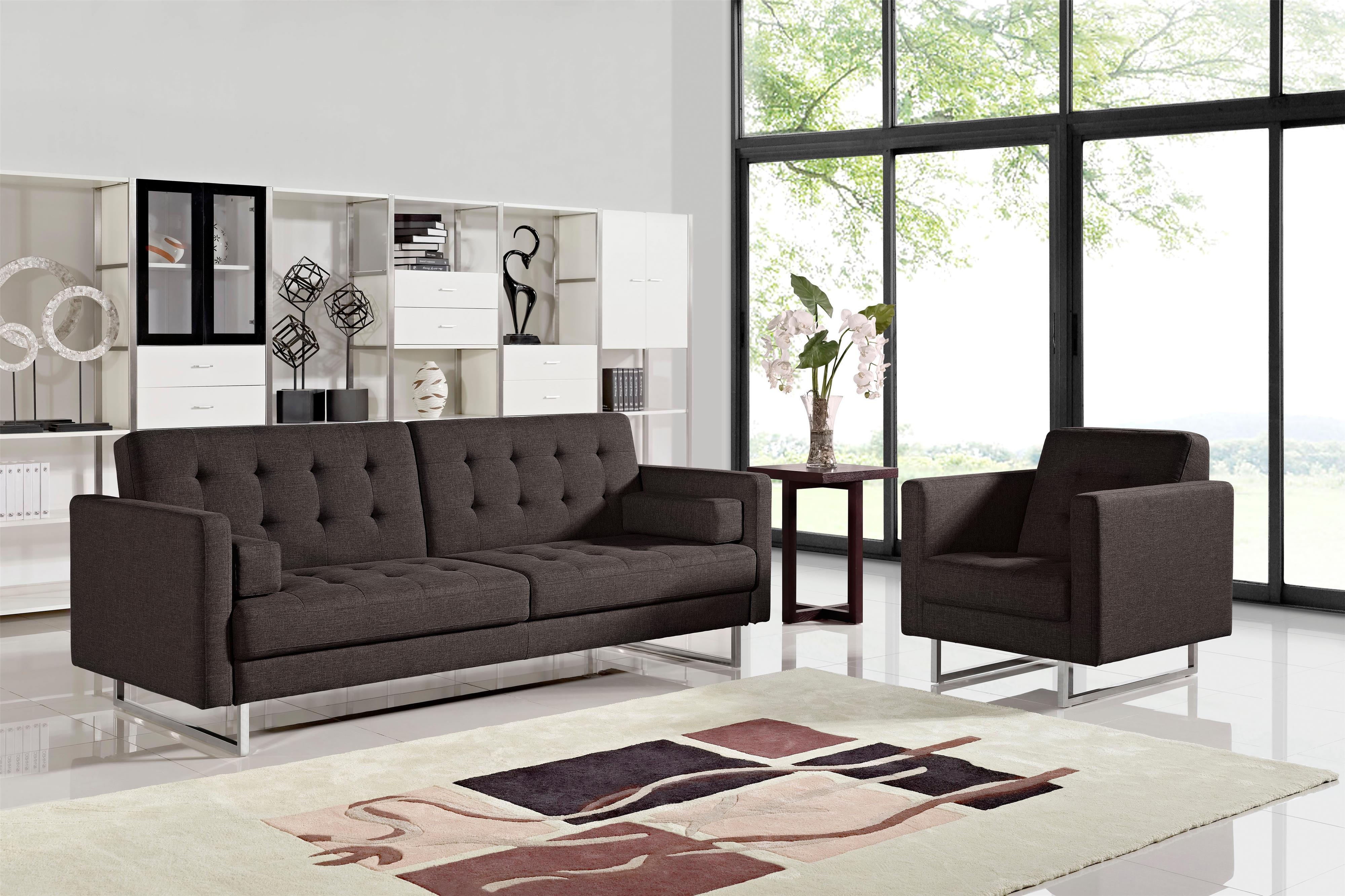 Diamond Sofa Opus Grey Tufted Polyester Fabric Chair   Michaelu0027s Furniture  Warehouse   Upholstered Chairs