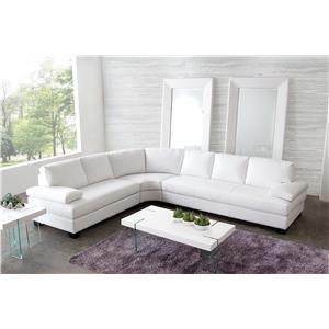 Diamond Sofa Vanity Three Piece Contemporary Sectional