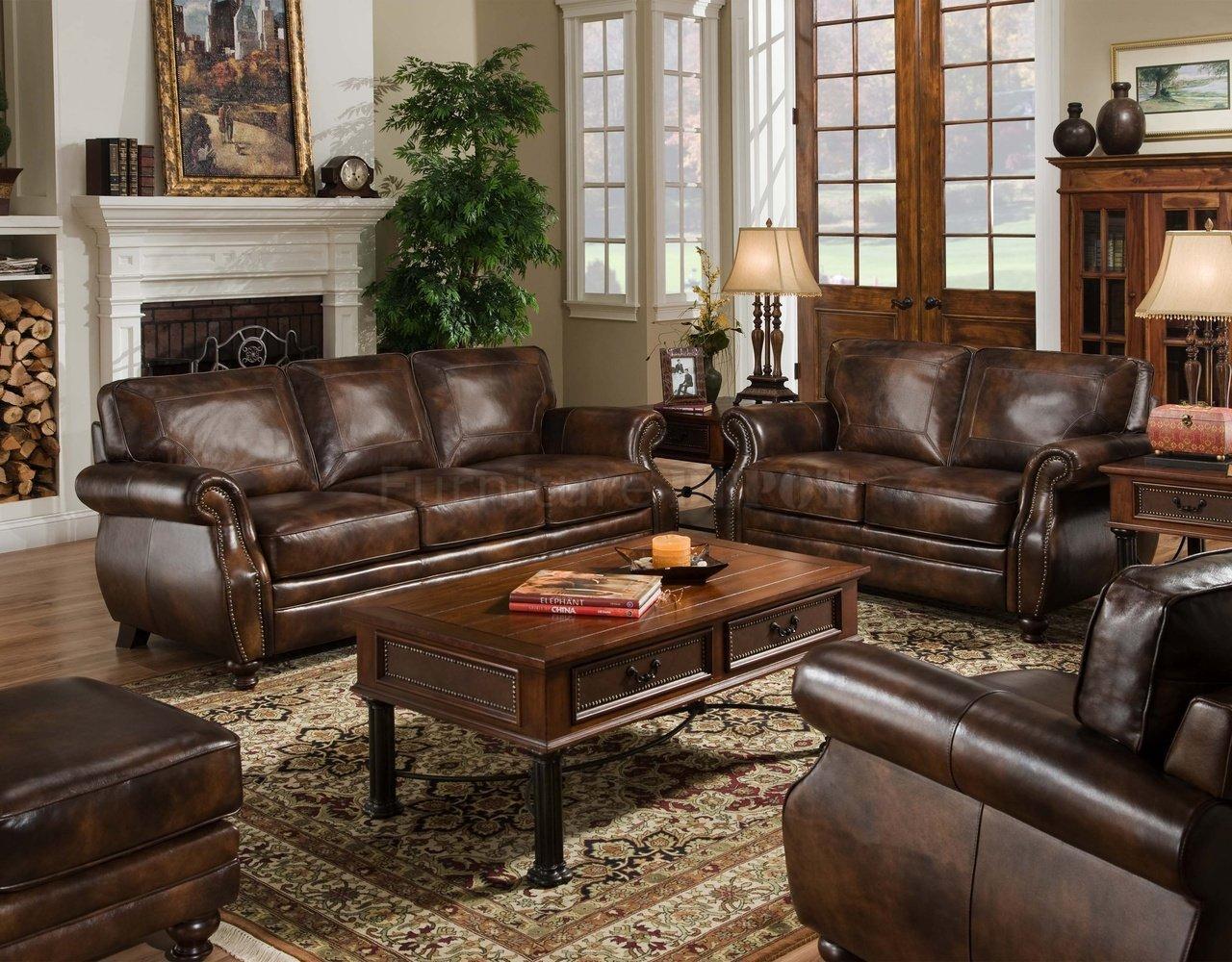 Doro portofino traditional leather loveseat with nail head trim bigfurniturewebsite love seat