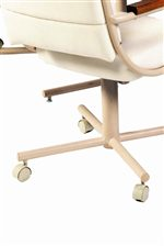 Douglas Casual Living Caster Dinnette Upholstered Caster Dining Arm Chair Rune S Furniture Dining Chair With Casters