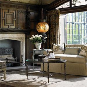 Drexel Heritage® At Home in Belle Maison The Scrolls Table with Glass Top