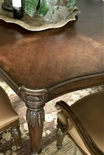 Intricate Carvings on Dining Table Leg