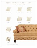 Throw Pillows Offered in Assorted Sizes, Styles and Fabric Choices (Additional Pillow Styles Available)