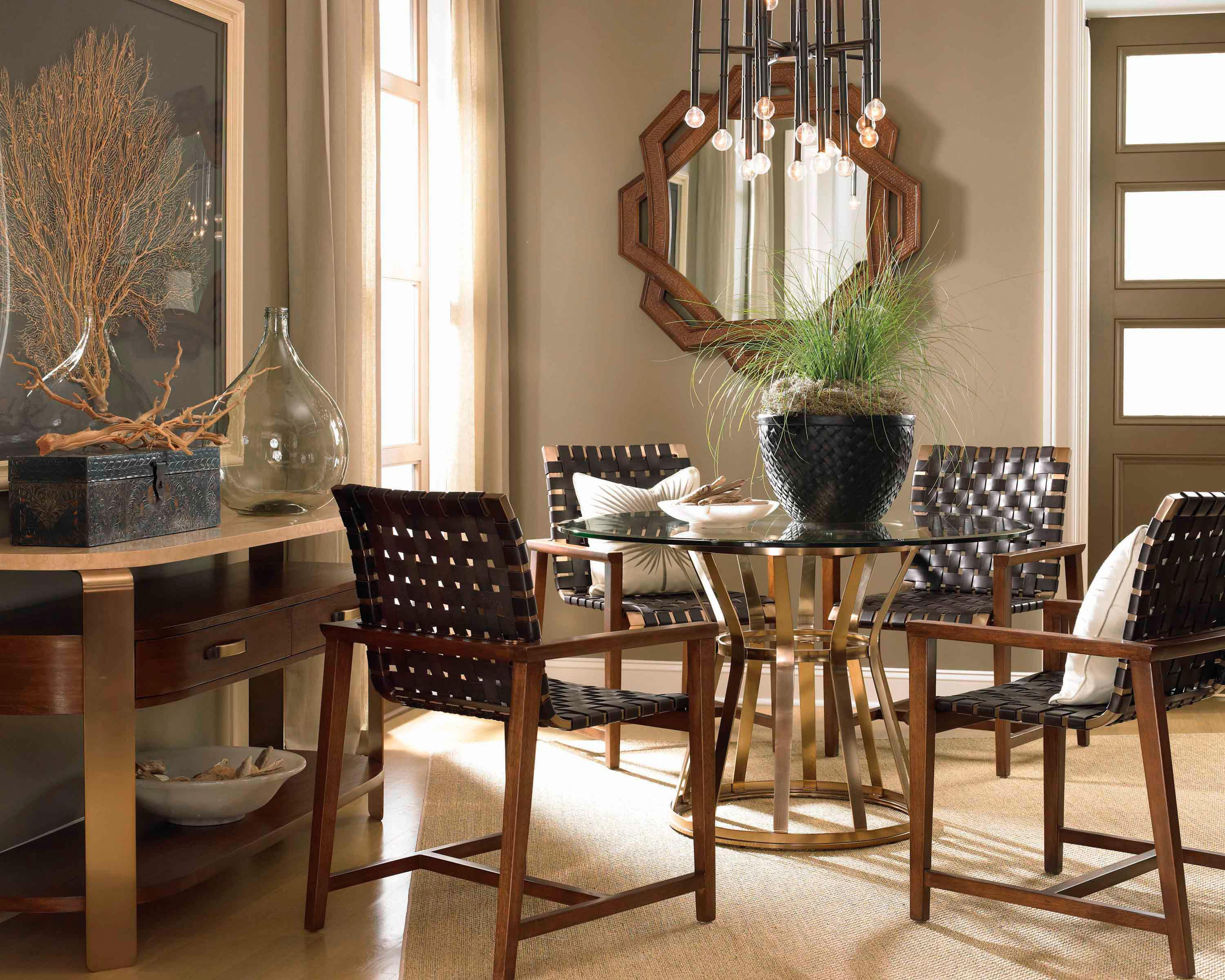 Drexel Renderings Voussoir Pedestal Dining Table W/ Glass Top   Sprintz  Furniture   Dining Tables Nashville, Franklin, And Greater Tennessee