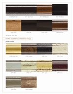 Additional Available Finishes, Including Upgraded Finishes
