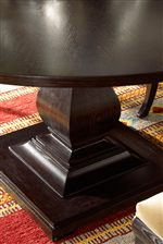 Large Square Pedestal Table Base