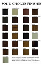 Choose From an Assortment of Finish Options to Customize this Collection