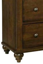 Traditional Styled Ball Feet Provide Traditional Accent to Bedroom Furniture Pieces