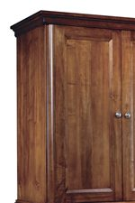 Thick Molding, Framed Doors and Smooth Surface.