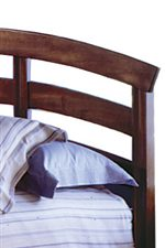 Rounded Slats On Bed.