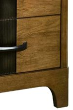 Smooth Case Lines with a Solid Cherry Construction Create a Modern Look that is Sturdy and Strong