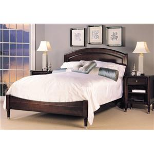 Durham Southampton Queen Size Low Panel Bed with Sophisticated ...