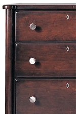 Lipped Drawer Faces and Soft Rounded Corners add a Genteel Quality to this Chic Styled Collection
