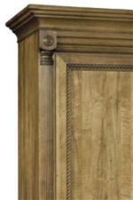Decorative Carvings Feature Fluted Pilasters and Twisted Rope Trim for a Traditional Element with a Regal Feel