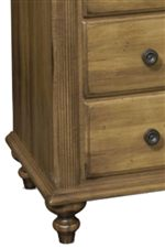 Turned Wood Feet in a Traditional Style Cast a Timeless Aura with a Lasting Beauty