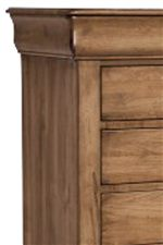 Decorative Beveled Tops and Un-Paneled Drawers Create a Look of Simplicity with an Elegant Charm