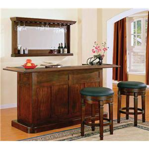 E.C.I. Furniture Nova Bar Set with Two Stools