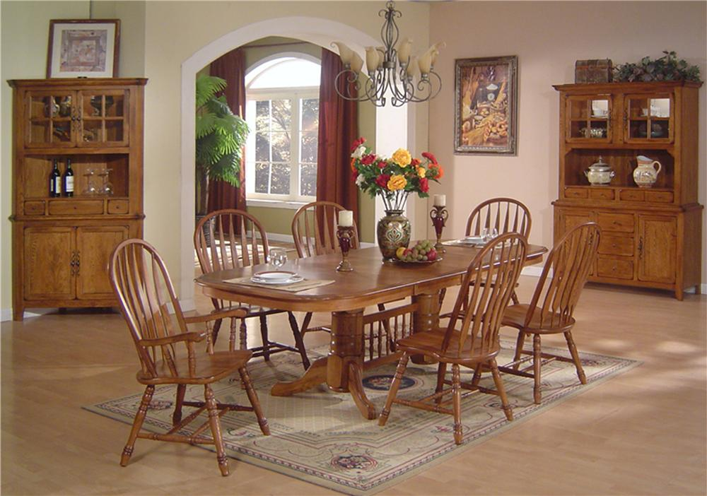 E C I Furniture Solid Oak Dining Table Chair Set Item Number