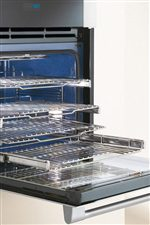 Ball-Bearing Smooth-Glide® Oven Racks Glide with Unparalleled Ease and Extend Fully for Effortless Access