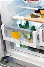 Smooth-Glide® Crisper Drawers Smoothly Glide Out and Keep Even the Most Delicate Fruits and Vegetables Fresh