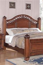 Intricate Metal Work Motif on Headboard and Dresser Mirror