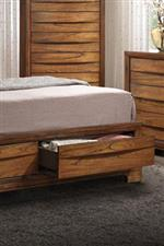 Convenient Drawers Built into Bed Footboard