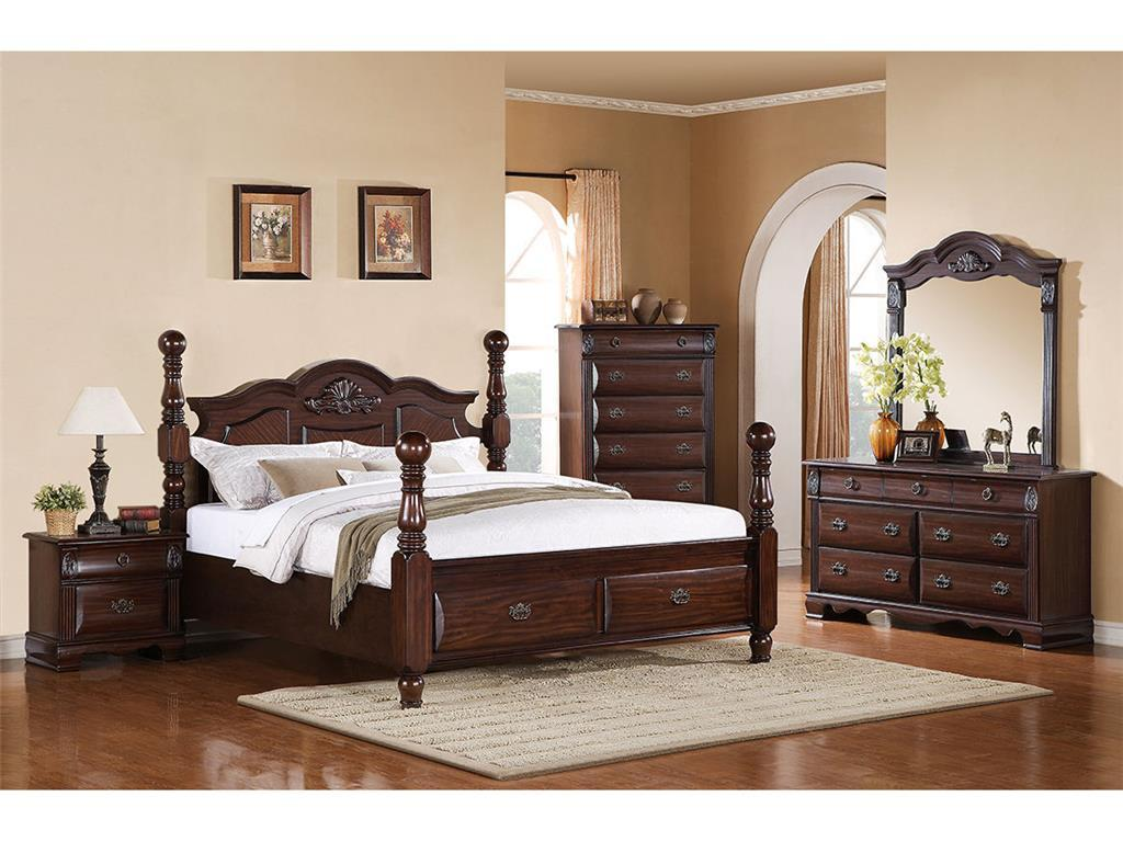 elements international bryant queen bedroom group - powell's