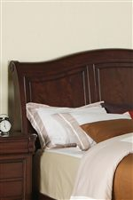Arched Headboard with Paneled Detailing