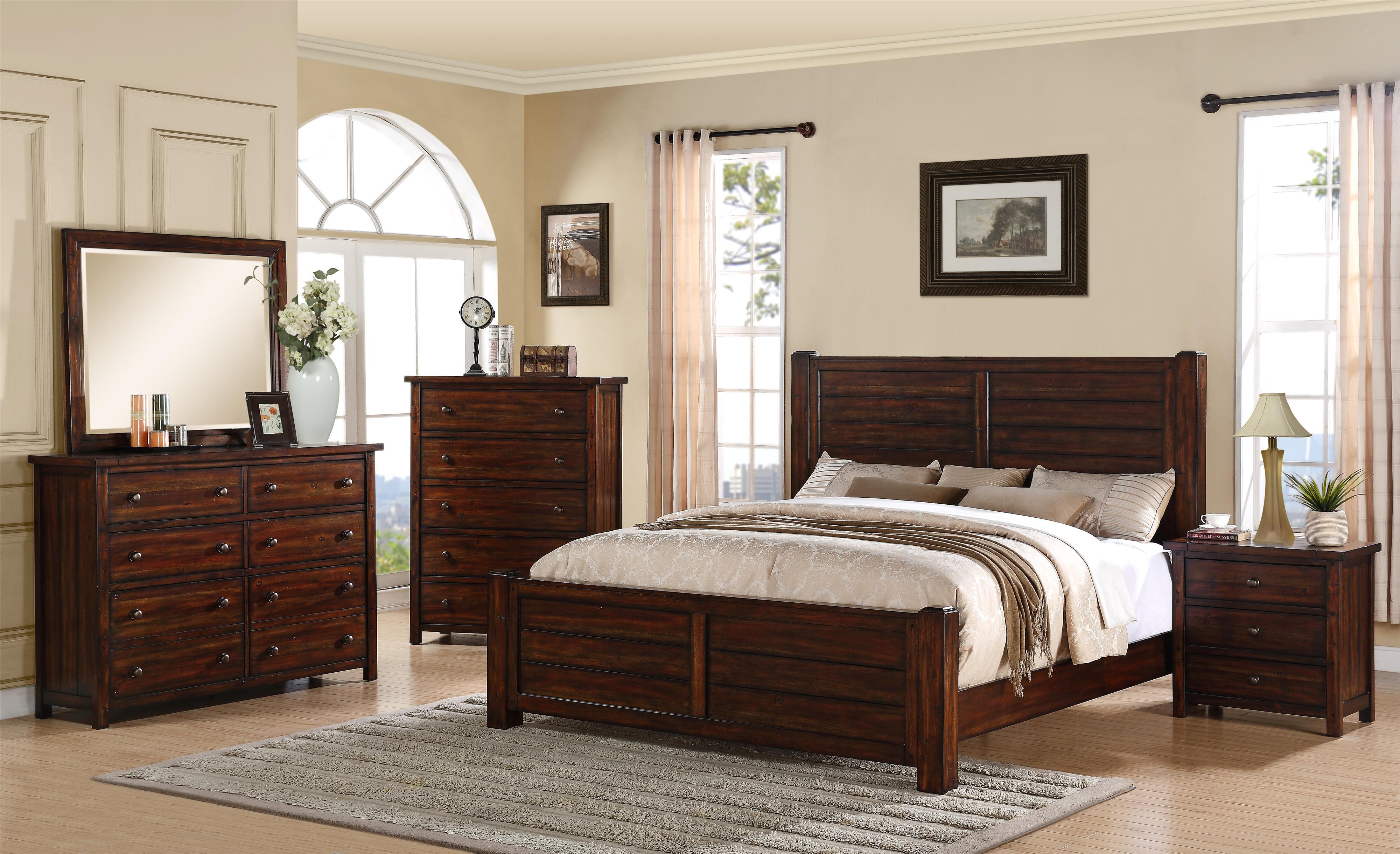 Elements International Boardwalk Ds600qb5pc Queen Bedroom