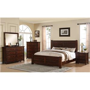 Elements International Dawson Creek Queen Bedroom Group