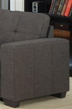 Accent Stitching on Arms and Cushions