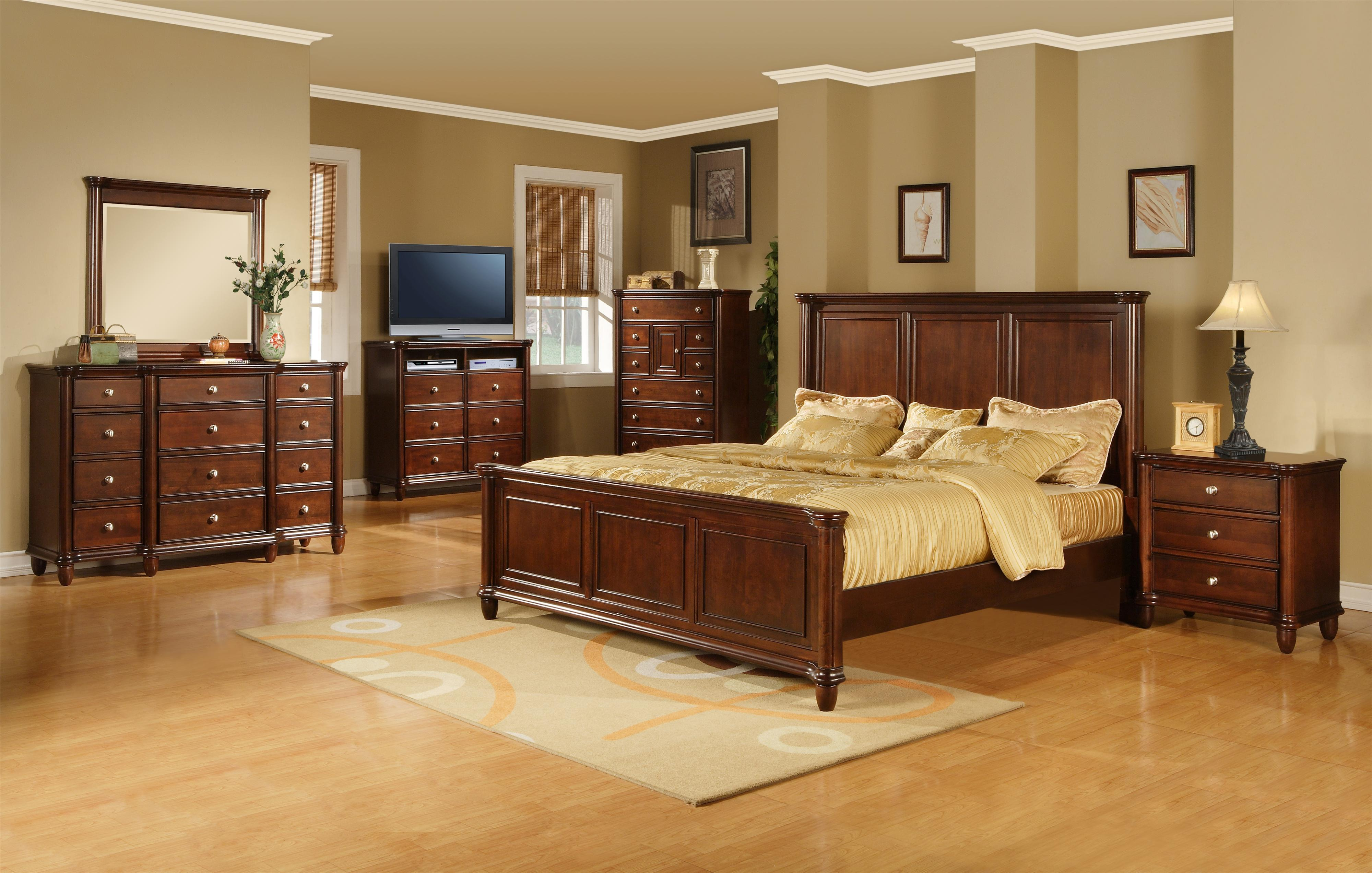 Elements International Hamilton King Transitional Rich Brown Panel