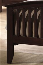 Curved and Thinly Slatted Footboard