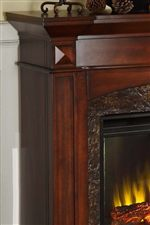 Elegant Mouldings and Faux Stone Inlay
