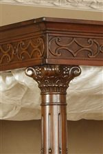 Intricate Wood Carving Frieze, & Ionic Column Bed Posters