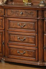 Framed & Detailed Drawer Fronts with Fluted Pilasters