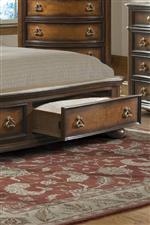 Footboard Drawers Provide Extra Storage Space