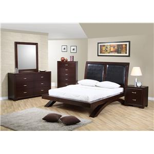 Elements International Raven Contemporary Queen Platform Bed