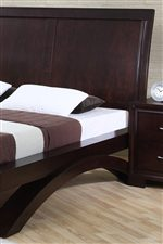 Wood Headboard Platform Bed