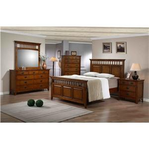 Morris Home Furnishings Townsend Mission Style Double Dresser