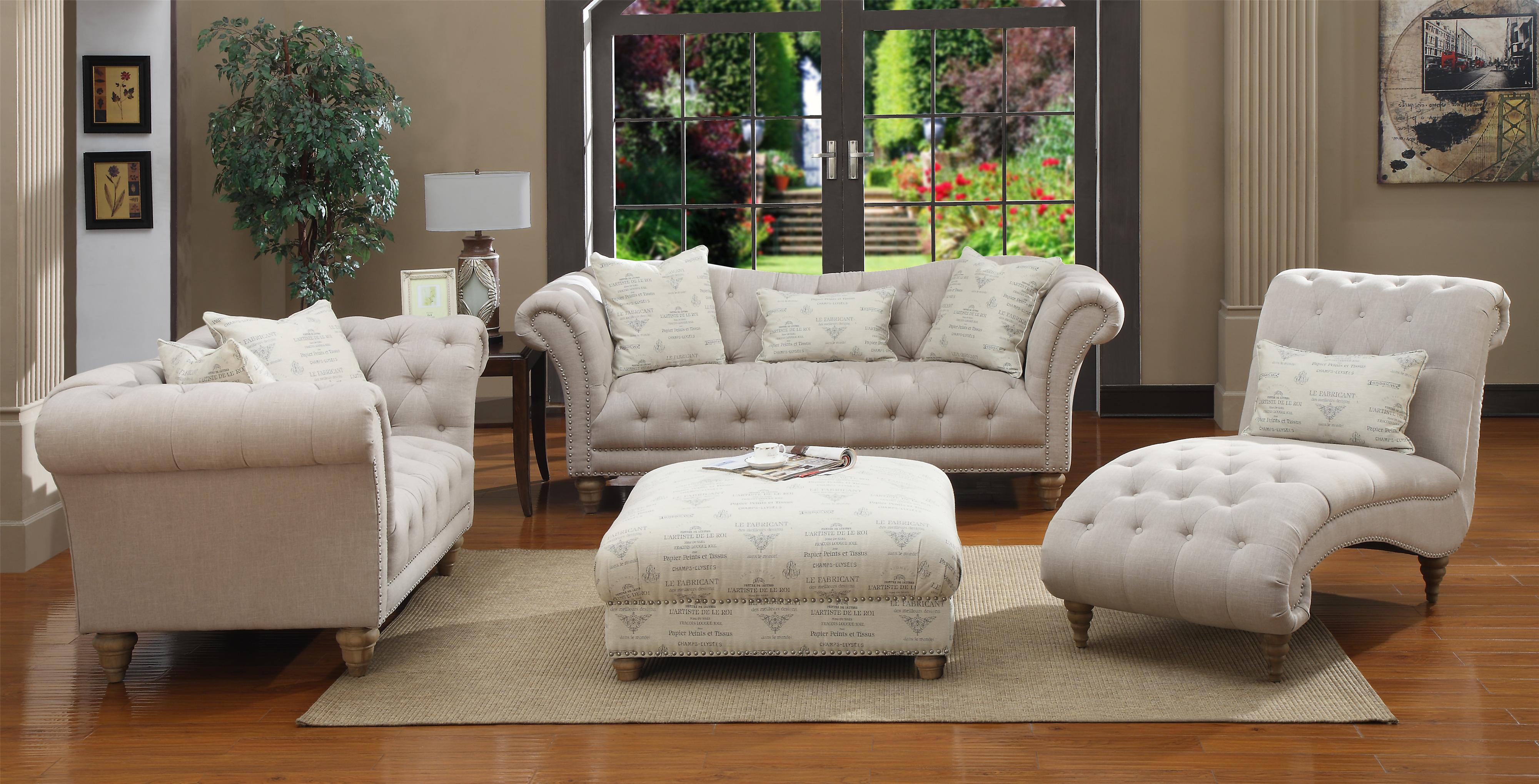 emerald hutton fabric upholstery series linen look nailhead sofa w  - emerald hutton fabric upholstery series linen look nailhead sofa w pillows  kidney pillow  wilson's furniture  sofa bellingham ferndalelynden
