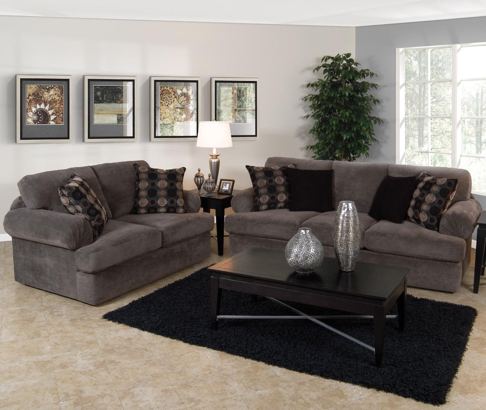 England Abbie Right Chaise Sectional Sofa with Cushions