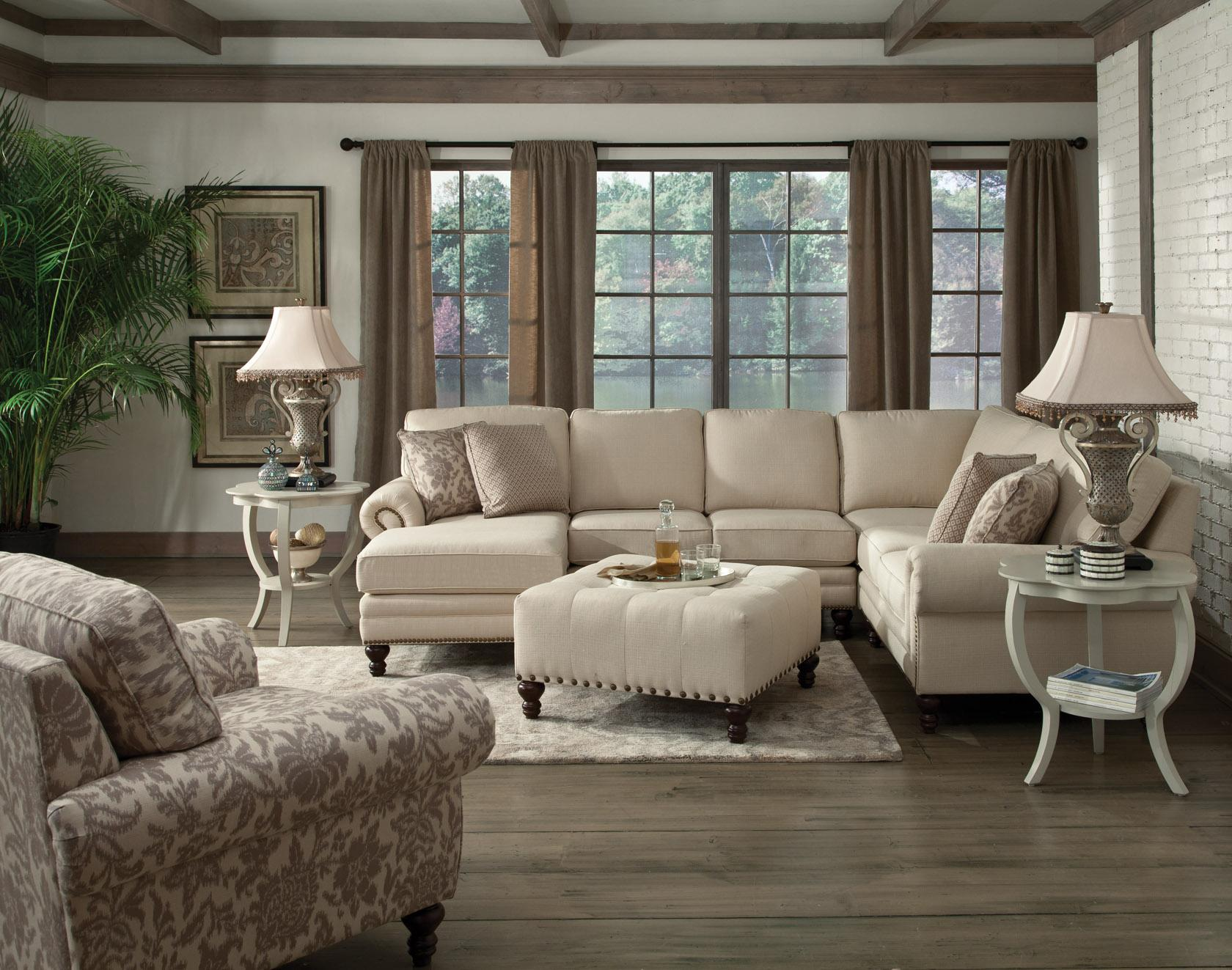 England Amix Six Seat Sectional with Right Chaise Furniture