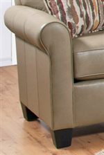 Smooth Rounded Arms with Welt Cord Trim Feature a Casual Look that Blends with an Assortment of Styles