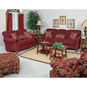 England Benwood Upholstered Chair and Ottoman Set