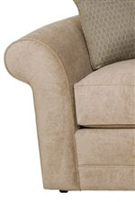 Flared Tapered Arms of Sofa