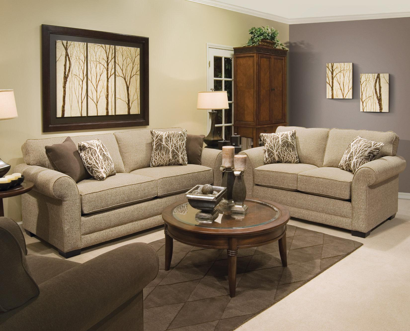 England Brantley 5 Seat Sectional Sofa with Cuddler SuperStore